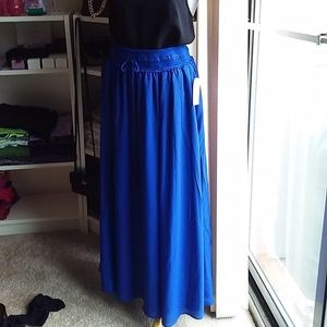 NWT Anthropologie Maxi skirt Royal blue